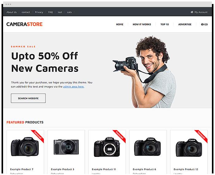 Camera Shop demo