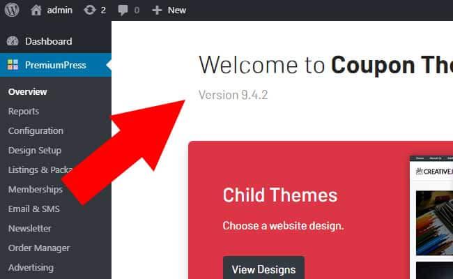 Update Theme WordPress
