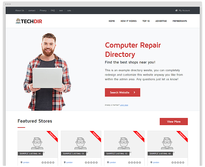 Repair Directory Theme demo